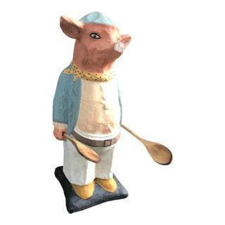Vintage Butcher Food Shop Pig Figure For Sale