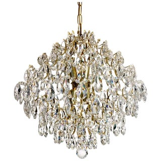 Retro Chandelier, Ball Brass Almond For Sale