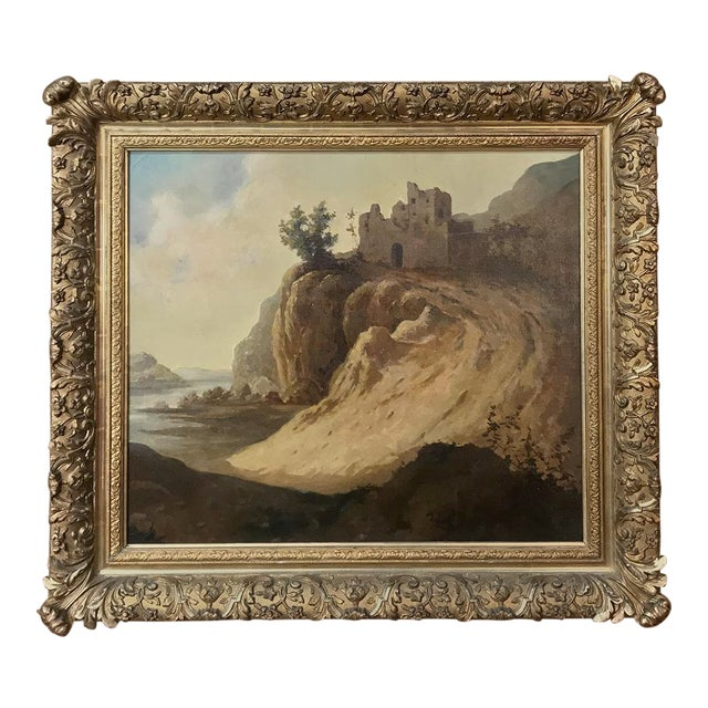 Antique Framed Oil Painting on Canvas by Roelofs For Sale