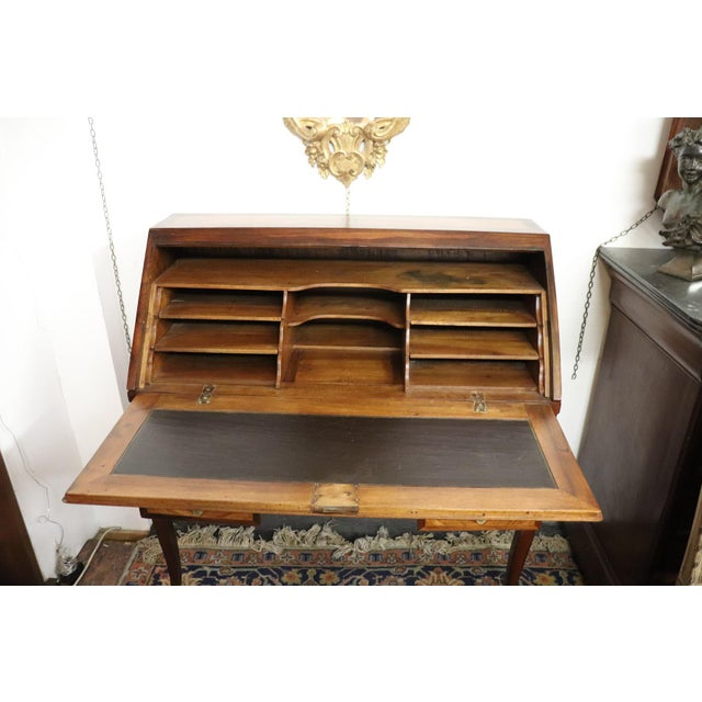 19th Century Italian Antique Louis XV Style Luxury Chest of Drawers With Secretaire For Sale - Image 4 of 13