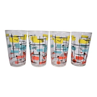 Vintage Federal Glass Juice Tumblers - Set of 4 For Sale