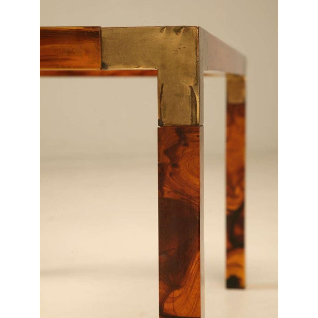 Acrylic Circa 1960s Faux Tortoise Shell Coffee Table For Sale - Image 7 of 10
