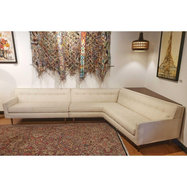 Beige Mid-Century Modern Harvey Probber 'Nuclear Sert' Sectional Sofa and Console Table For Sale - Image 8 of 12
