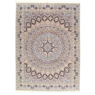 "Pasargad N Y Fine Persian Nain Silk & Wool 6-Lines Rug - 8'4"" X 11'8"" For Sale"