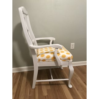 White Lacquered Finish Queen Anne Chair Preview