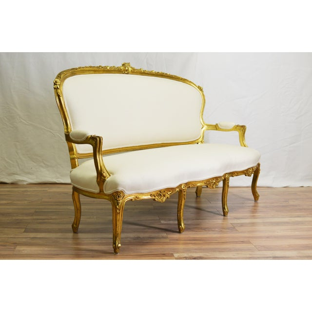 19th Century White and Gold Venetian Sofa - Image 3 of 10