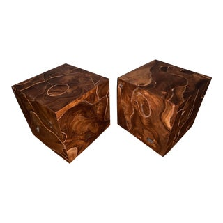 Late 20th Century Teak Week Side Tables - a Pair For Sale