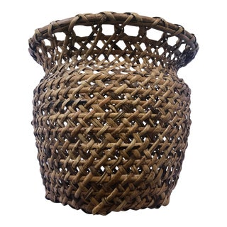 Large Natural Woven Bamboo Rattan Planter Basket For Sale