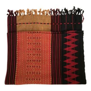 Naga Woven Textile Fringe Blanket Throw Textile For Sale