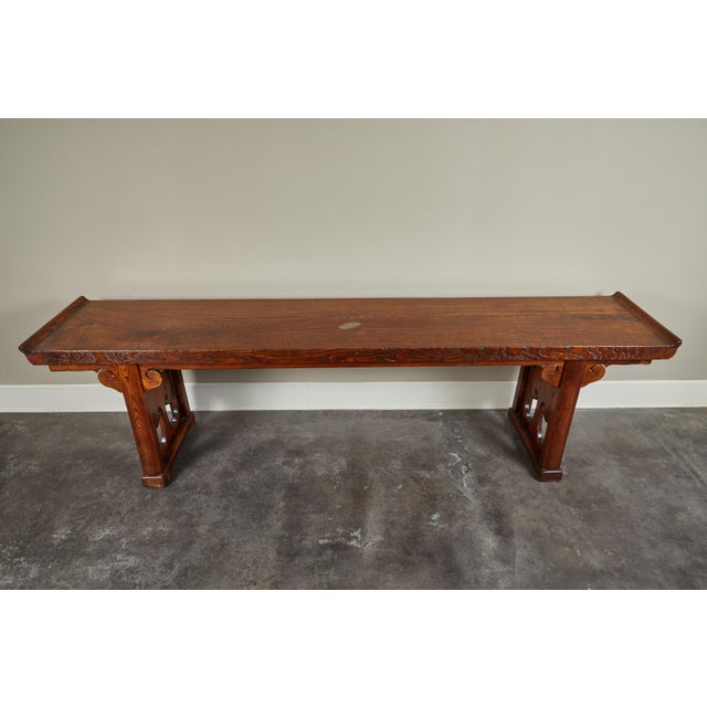 18th Century Ming Scroll Console Table For Sale - Image 4 of 10