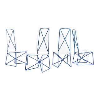Arturo Pani Prototype Steel and Lucite Chairs- Set of 4 For Sale