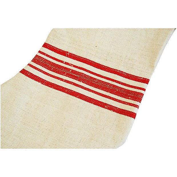 French Grain Sack Christmas Stockings - Pair - Image 5 of 6