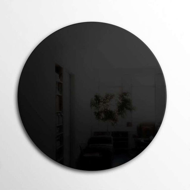 """Art Deco style black wall mirror called """"Black Pearl"""". Original hanger attached. More mirrors available."""