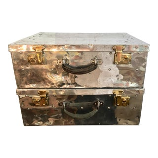 1940s Industrial Style Polished Aluminum Cases - a Pair
