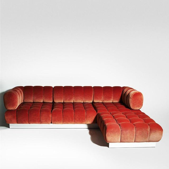 2015 USA Todd Merrill Custom Original The Extended Back Tufted Sectional For Sale - Image 11 of 11