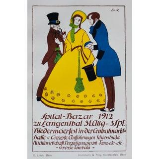 1912 German Art Nouveau Poster, Spital-Bazar (Vintage Dance Party) For Sale
