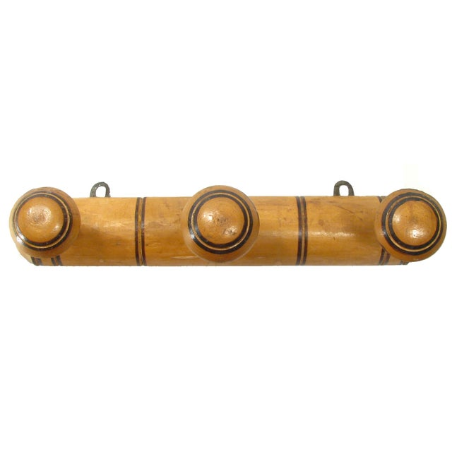 French Deco Wooden Towel Rack - Image 2 of 3