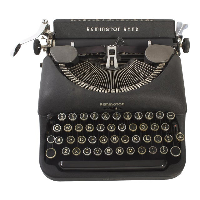 Remington Rand Typewriter - Model 5 in Excellent Working Order For Sale