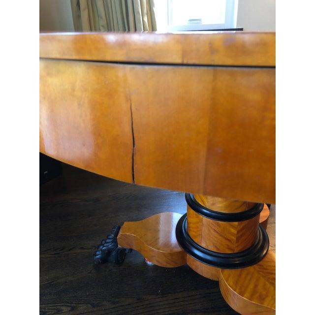 Antique Biedermeier Round Center Table For Sale In Philadelphia - Image 6 of 13