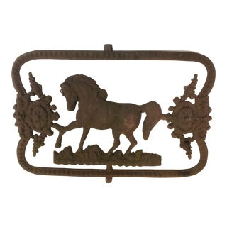 19th C. Iron Horse Wall Plaque For Sale