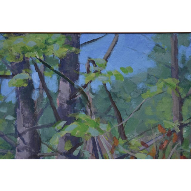 "Expressionism ""Path With Two White Pines"". Contemporary Plein Air Painting by Stephen Remick For Sale - Image 3 of 7"