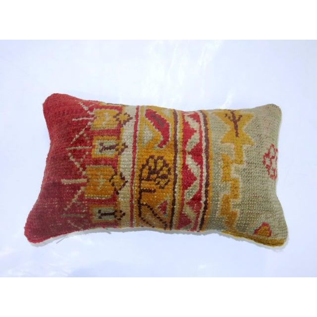 Oushak Rug Lumbar Pillow - Image 2 of 3