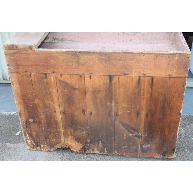 19th Century Dry Sink in Original Dusty Rose Paint For Sale - Image 10 of 12