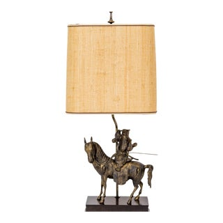 Tang Horseman Lamp by Frederick Cooper w/ Shade