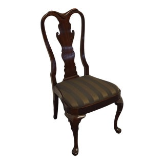 Statton Furniture Solid Cherry Traditional Queen Anne Style Side Chair For Sale