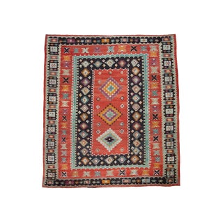 Large Sharkoy Kilim Rug - 12′2″ × 13′6″ For Sale