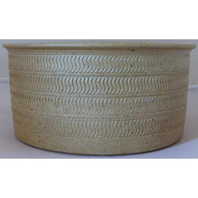 Ceramic Mid Century Dansk Pottery Bowl by Niels Refsgaard For Sale - Image 7 of 13