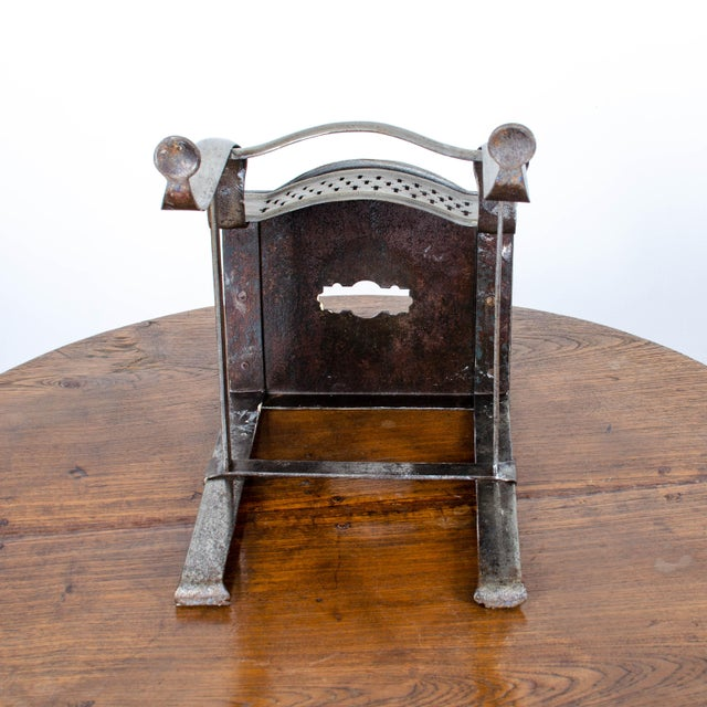 Mid 19th Century 19th Century Antique Steel Footman For Sale - Image 5 of 6