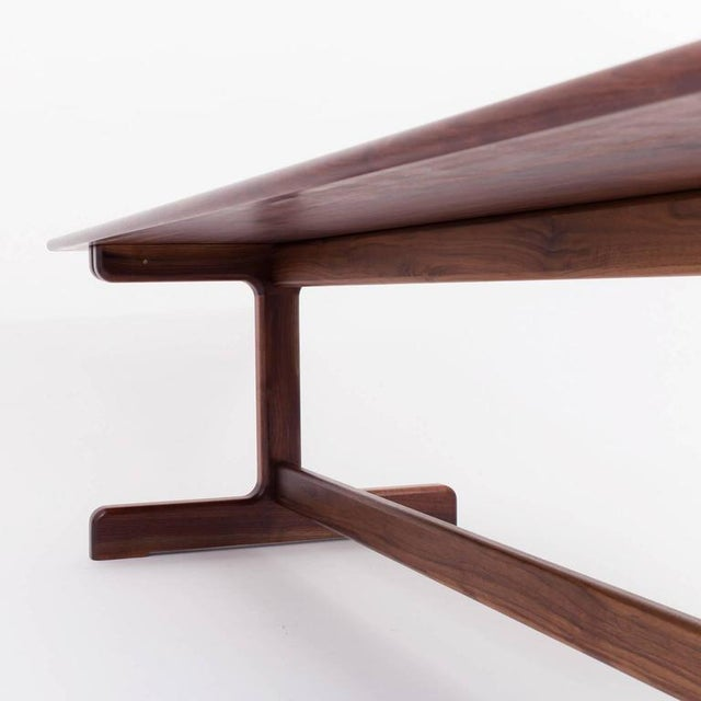 Asa Pingree Asa Pingree Physalia Dining Table with Low Profile Foot in American Walnut For Sale - Image 4 of 7