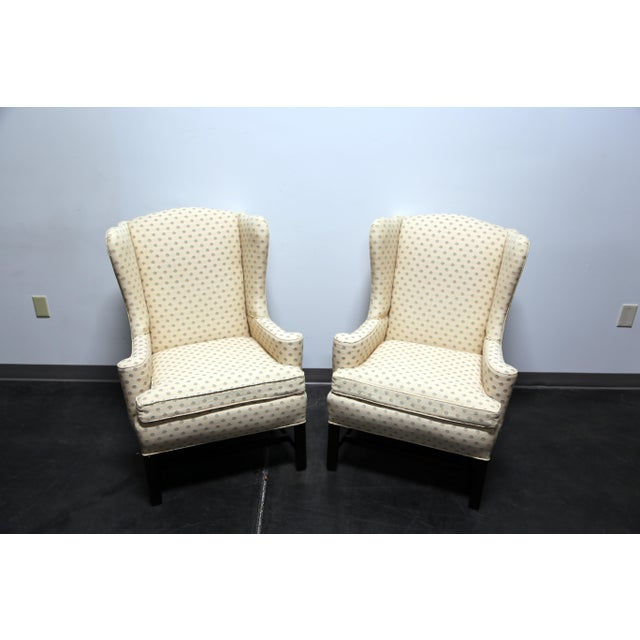 Chippendale Chippendale Style Mahogany Wing Back Chairs by Conover Chair Co - Pair For Sale - Image 3 of 11