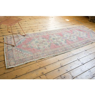 """Vintage Distressed Oushak Rug Runner - 3'5"""" X 9'5"""" Preview"""
