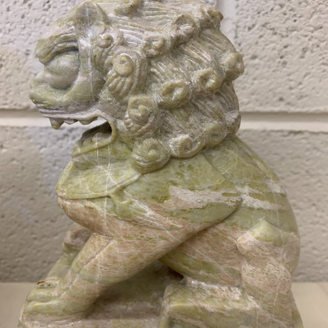 Stone Green Stone Marble Foo Dogs Bookends - a Pair For Sale - Image 7 of 13