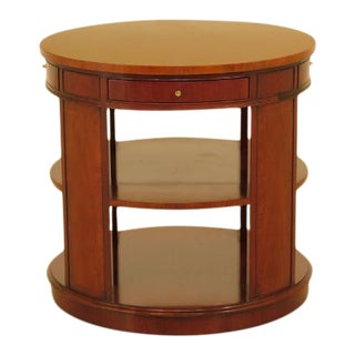 Kindel Round Mahogany Drum Table