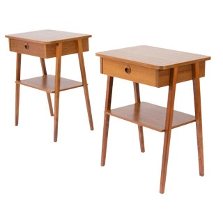 1960s Scandinavian Teak Nightstands - a Pair For Sale