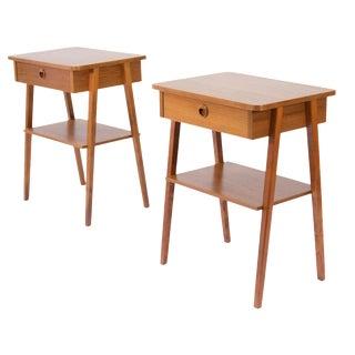 1960s Scandinavian Teak Nightstands - a Pair For Sale