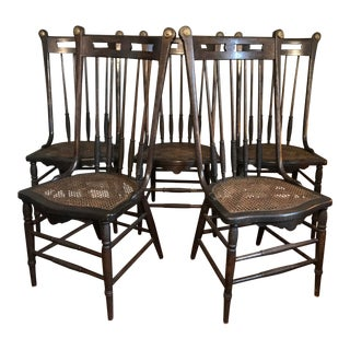Vintage Cottage Chic Dining Chairs - Set of 5 For Sale