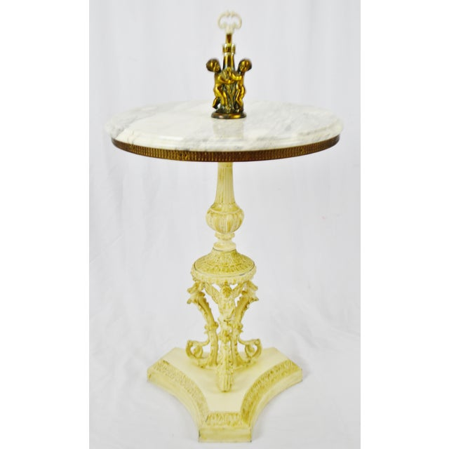 Hollywood Regency j.b. Van Sciver Co. Marble Top Table For Sale - Image 13 of 13