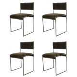 Image of Set of Four Willy Rizzo Dining Chairs For Sale