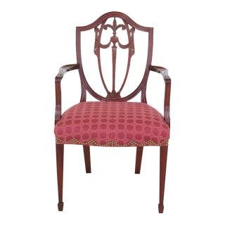 1990s Vintage Kindel Winterthur Carved Mahogany Armchair For Sale