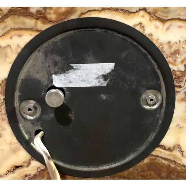 Mid-Century Modern Lanshire Vintage Marble Slab Clock For Sale - Image 3 of 10