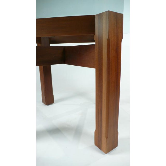 Glass Custom Glass Top Dining Table For Sale - Image 7 of 7