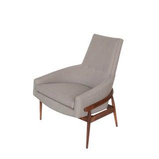 Mid-Century Milo Baughman Sculptural Armchair For Sale
