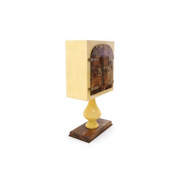 Stunning Aldo Tura Lighted, Locking Bar Cabinet or Liquor Cabinet For Sale In Kansas City - Image 6 of 12