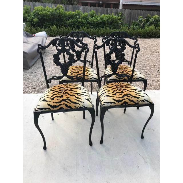 French Garden Chairs - Set of 4 - Image 2 of 6