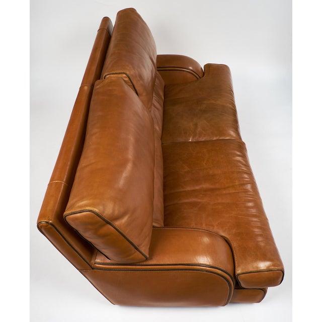 Animal Skin Vintage Baxter Italian Leather Sofa For Sale - Image 7 of 10