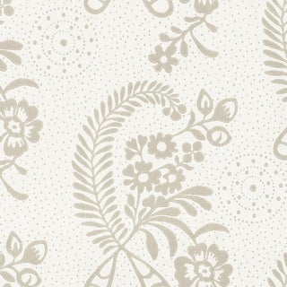 Sample - Schumacher Millicent Wallpaper in Grisaille For Sale